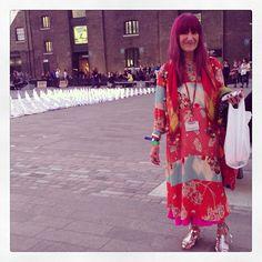 Fashion world legend fashion print tutor Natalie Gibson #streetchic