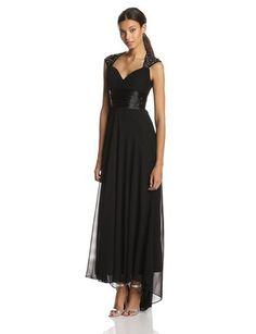 Ever Pretty Women's Chiffon Sexy V-Neck Ruffles Empire Line Evening Dress