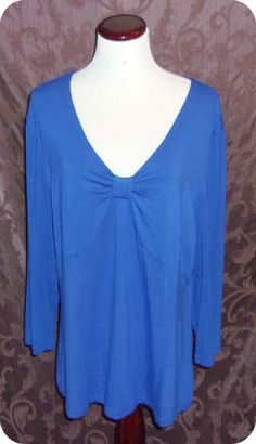 Covington Womens Top Size Extra Large Blue Long Sleeve Rayon Spandex #Covington #KnitTop #CareerCasual #Fashion #Clothing #Womens #SizeXL