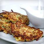 Cauliflower-Pea Pancakes