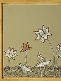 Lotus Hand-Painted Pattachitra