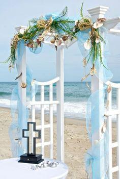 Beautiful Beach Arbor and Unity Cross . Wedding Chuppah, Wedding Canopy, Wedding Arches, Ocean Blue Weddings, Beach Weddings, Unity Cross, My Prince Charming, Arbors, Wedding Planners