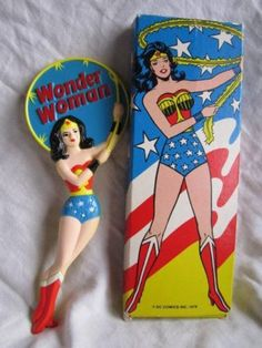 Vintage 1978 Avon Wonder Woman Hand Mirror