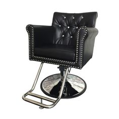 Cambridge Styling Chair - The Cambridge Styling chair is one of our most elegant, comfortable options. Features a beautiful tufted backrest. Barber Accessories, Barber Shop Interior, Nail Salon Furniture, Spa Chair, Pedicure Spa, Salon Equipment, Barber Chair, Makeup Rooms, Foot Rest