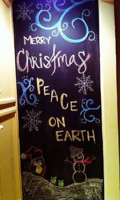 Merry Holiday Chalk Wall