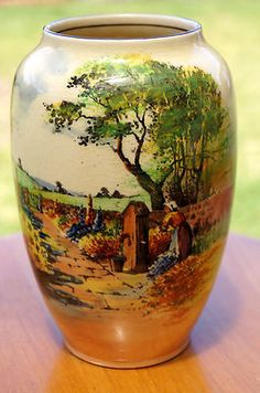 Royal Doulton Vase  Country Garden  Large D4932 Scarce 947 | eBay