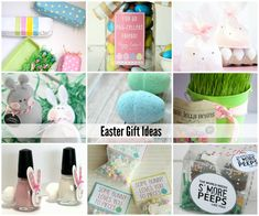 There are so many festive and fun DIY Easter Gift Ideas floating around out in web land, so I thought I would do a quick roundup of some of my favorites.