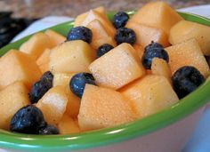 Honeyed Cantaloupe With Blueberries from Food.com:   								Side dish to Salsa Pasta Ole
