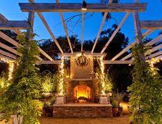 Beautiful Outdoor Fireplace Outdoor Fireplace Alastair Boase Landscape Design, LLC Sherman Oaks, CA
