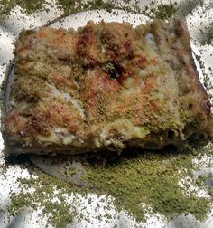 lasagni co' pistacchiu pa' nora lasagne con crema di pistacchio