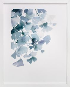 Blue Ginkgo by Yao Cheng at minted.com