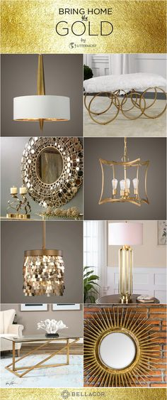Gold is hot in 2016 and not just for the Olympians! They will warm up a space and reflective surfaces bounce light around a room. Use a few well-chosen Uttermost pieces as accents to create a glamorous and affluent look. Gold is classic and here to stay, so don't be afraid to decorate incorporating gold and/or brass.  Shop Bellacor.com for latest Uttermost home accessories.