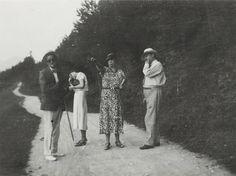 James, Lucia, and Nora Joyce with Eugene Jolas, 1932