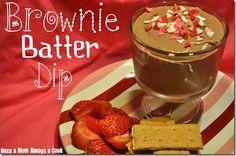 Brownie Batter Dip -- So good with strawberries!