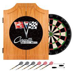 Trademark Games Corvette C2 Bristle Dart Board Complete Set - GM7000B-C2-COR