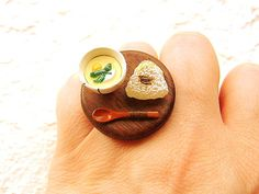 Kawaii Japanese Food Ring Miniature Food Jewelry Traditional