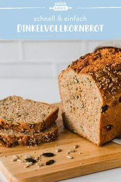 Dinkelvollkornbrot selber backen Have you always wanted to bake your own bread? This recipe for crispy spelled bread with yeast is easy to bake and doesn't have to go. whole grain bread bread Easter Recipes, Appetizer Recipes, Dinner Recipes, Dessert Recipes, Breakfast Recipes, Drink Recipes, Cake Recipes, Tartiflette Recipe, Pan Integral