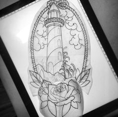 Lighthouse tattoo design