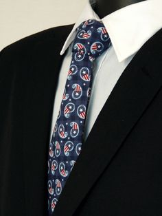 4th of July Necktie, 4th of July Tie, Mens Necktie, Mens Tie, Paisley, Independence Day, Fathers Day, Birthday, Gift, Navy, Blue, White, Red by EdsNeckties on Etsy