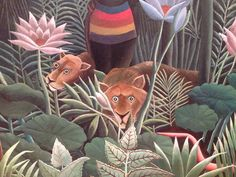Henri Rousseau. I adore his paintings. They just make me happy :)
