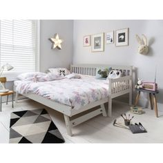 Noa and Nani - Isabella Single Day Bed with Pullout Trundle - (White) Single Day Bed, Single Bedroom, Kids Single Beds, Queen Bedroom, Bedroom Sets, Queen Bedding, Bedroom Office, Baby Bedroom, Kids Bedroom