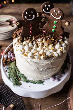 Chocolate Filled Gingerbread Cake with Cream Cheese Frosting Recipe by @hbharvest