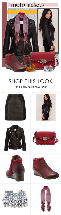 """""""Late Moto Jacket with Keen Wedge Boots ♥"""" by constanceann ❤ liked on Polyvore featuring River Island, Anine Bing, Valentino, Keen Footwear, Paula Mendoza, Helen Moore, Fall and keen"""