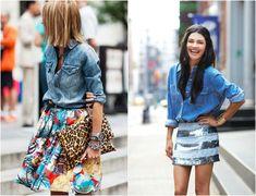 Como usar camisa Jeans - 26 looks lindos para inspirar / luvmay.com.br
