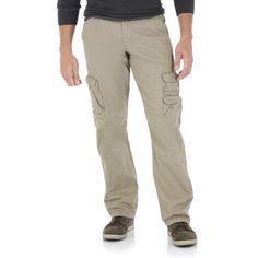 Wrangler Jeans Co. Men's Cargo Twill Pants, Size: 34 x 34, Beige
