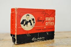 Vintage 1946 Parker Brothers States and Cities Game