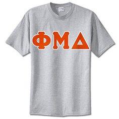 Phi Mu Delta Fraternity Lettered T-Shirt