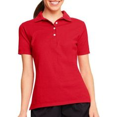 Hanes Womens X-temp Polo Sportshirt With Wicking Properties, Women's, Size: Medium, Red
