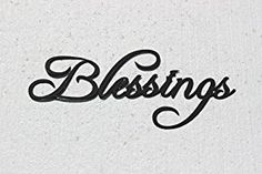 Amazon.com: Blessings Word Decorative Metal Wall Art: Home & Kitchen