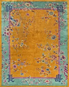 "#137 Chinese Art Deco carpet    9'0"" x 11'0""    circa 1930"