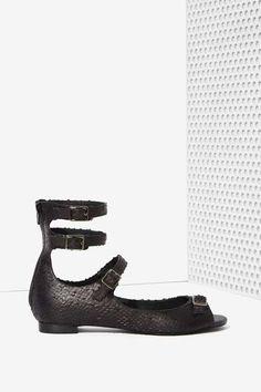 Jeffrey Campbell Karis Leather Flat - Shoes
