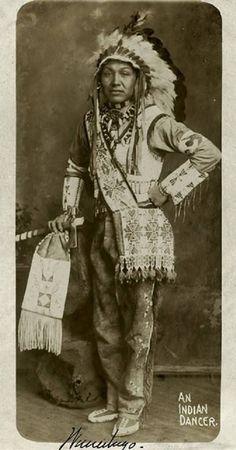 Winnebago man in Nebraska - circa 1915