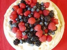 Raspberry, Blueberry and Blackberry Pavlova in the Halogen