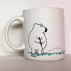 Golf Sport Complex Science Bear Tiny Ball Hole Shoebox Hallmark Mug Cup Coffee #Hallmark #Cartoon