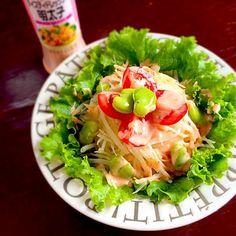 キユーピー明太子ドレッシングで (*´ڡ`●) - 11件のもぐもぐ - シャキシャキポテトサラダ by ayu3cafe