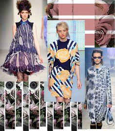Josie Holuj PRINT : Trend Inspiration Textile Prints, Textiles, Color Pick, Spring Summer Trends, Surface Pattern, Mood Boards, Florals, Pattern Design, Floral Design