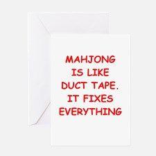 MAHJONG Greeting Card for