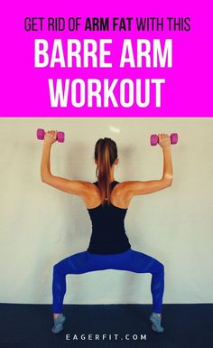 Barre Arm Workout with Weights - Get rid of fat and flabby arms. Instead get toned and strong arms with this barre arm workout with - Barre Arm Workout, Ab Workout At Home, At Home Workouts, Workout Plans, Workout Gear, Fat Workout, Cardio, Workout Challange, Abdominal Workout