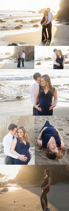Beach Maternity Photos in Malibu | Julie Campbell Photography in Westlake Village, California #maternityphotographer | Camarillo | Thousand Oaks | Westlake Village | Agoura Hills | Ventura County