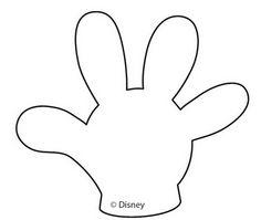 Molde del guante de Mickey. |Ideas para fiestas: Paps, ideas e ...