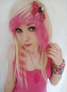 pink-and-blonde-emo-hair