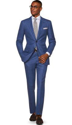 Suit Blue Check Lazio P5457 | Suitsupply Online Store