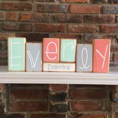 Baby Name Blocks - Custom Baby Gift by RuchalskiRustic on Etsy