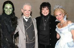 """Idina Menzel as """"Elpheba The Wicked Witch"""", Joel Grey as """"The Wizard"""" Liza Minnelli and Kristin Chenoweth as """"Glinda The Good Witch"""" *Exclusive* Get premium, high resolution news photos at Getty Images Broadway Wicked, Wicked Musical, Musical Theatre, Glinda The Good Witch, The Worst Witch, Wicked Witch, Terrence Mann, Joel Grey, Liza Minnelli"""