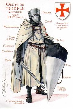 Knights Templar, knight with sword | by ourpostcards