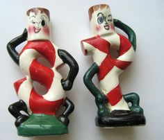 On Ruby Lane - Ruby Lane, Christmas Salt & Pepper Shakers I have these too cute